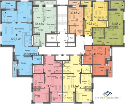 Продам двухкомнатную квартиру Российская д75 ,73кв.м.цена3300т.р - Фото 3