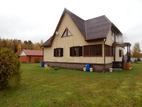 Цена снижена!Дом 246 кв м на участке 24 сотки вблизи д. Петрищево - Фото 1