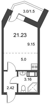 1 105 090 Руб., Продам студию. Дорога Жизни ш. к.3, Купить квартиру в Всеволожске по недорогой цене, ID объекта - 318418583 - Фото 1