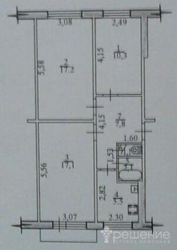 Продается квартира 62 кв.м, г. Хабаровск, Восточное шоссе, Купить квартиру в Хабаровске по недорогой цене, ID объекта - 319205709 - Фото 1