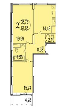 Двухкомнатная квартира в г. Реутов - Фото 1