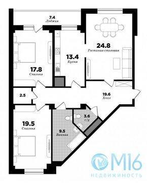 Продам видовую квартиру в Приморском районе - Фото 2