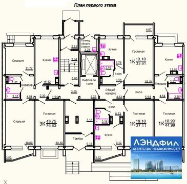 1 комнатная квартира улучшенной планировки, Тархова, 27 в - Фото 1