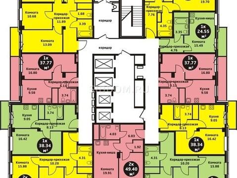 """Продам 1-комн. квартиру 37,75 кв.м. ЖК""""Уютный дом на Калинина д.№2 - Фото 1"""