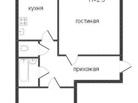 2 555 000 Руб., Продажа двухкомнатной квартиры на Хрустальной улице, 44к4 в Калуге, Купить квартиру в Калуге по недорогой цене, ID объекта - 319812781 - Фото 1