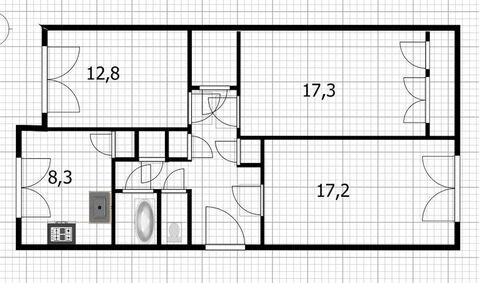Продажа просторной 3-х комнатной квартиры за малую цену - Фото 4