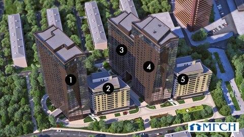 1-комн квартира в ЖК Дыхание 52,8м2 - Фото 3