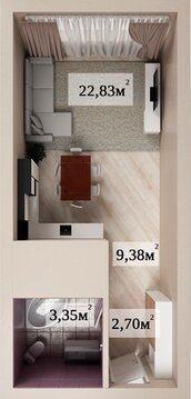Квартира-студия в новом доме с индивидуальным отоплением - Фото 2