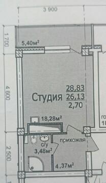 Продажа квартиры-студии 28,8 кв.м. ул. Победная д. 6, ЖК на Победной - Фото 2