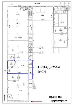 Аренда складских помещений 252.4 кв.м. Метро Щелковская - Фото 2