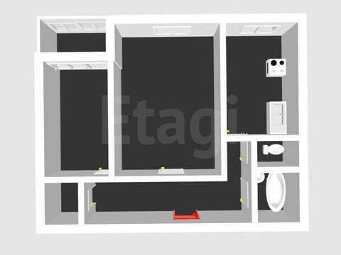 Продажа двухкомнатной квартиры на улице Худайбердина, 200 в ., Купить квартиру в Стерлитамаке по недорогой цене, ID объекта - 320177997 - Фото 1