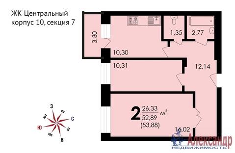 Продам 2к. квартиру. Звенигород г, Почтовая ул, д.36 к.10 - Фото 2