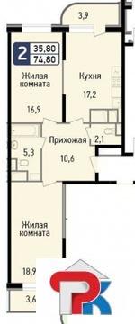 Продается Двухкомн. кв. г.Балашиха, Некрасова ул, 11 - Фото 1