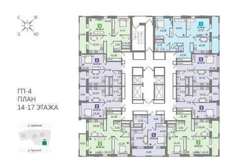 Продажа двухкомнатная квартира 56.48м2 в ЖК Каменный ручей гп-4 - Фото 2