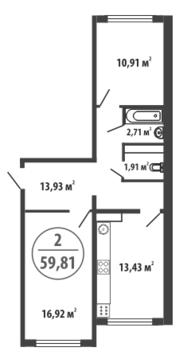 Продажа квартиры, Тюмень, Ул. Закалужская, Купить квартиру в Тюмени по недорогой цене, ID объекта - 318370065 - Фото 1