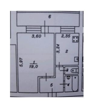 1 комнатная квартира в кирпичном доме, ул. Молодежная, д. 28 - Фото 1