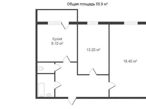 Продажа двухкомнатной квартиры на Звездной улице, 4 в Калуге, Купить квартиру в Калуге по недорогой цене, ID объекта - 319812695 - Фото 1