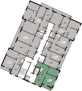 "Продам 2-комн. квартиру 60,7 кв.м. в ЖК""Курчатова""дом 6, стр.2 3000 т.р - Фото 4"