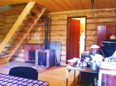 Бревенчатый дом 80 кв.м. 10 соток у леса. Газ по границе. 50 км. МКАД. - Фото 1