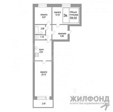 Продажа квартиры, Новосибирск, м. Студенческая, Ул. Бронная - Фото 2