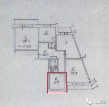 Комната 9 м в 4-к, 2/9 эт. - Фото 1