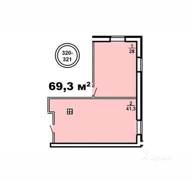 Офис в Ивановская область, Иваново Посадский пер, 4 (69.3 м) - Фото 1