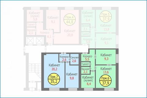 Блок квартир-апартаментов общей площадью 73,1 кв.м. Свободная продажа - Фото 3