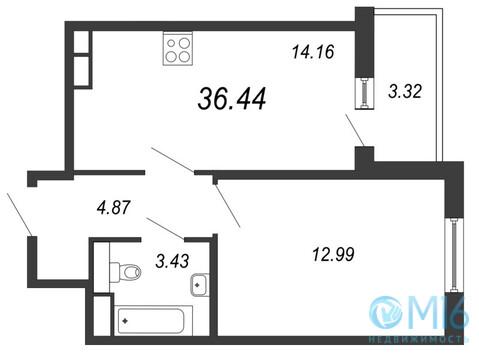 Продажа 1-комнатной квартиры, 36.44 м2 - Фото 2