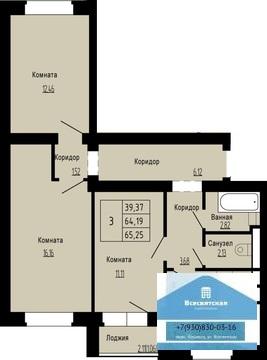 Продается 3-комнатная квартира в новом домев мкр. Юрьевец - Фото 2