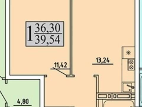 Продажа однокомнатной квартиры в новостройке на улице Хользунова, 99 в ., Купить квартиру в Воронеже по недорогой цене, ID объекта - 320573568 - Фото 1