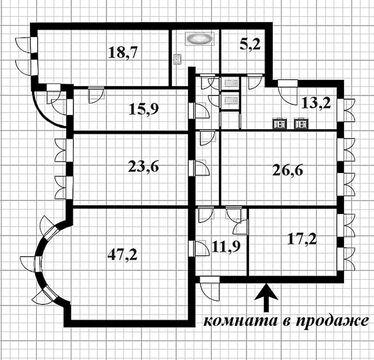 Продажа уютной комнаты в центре Санкт-Петербурга - Фото 5