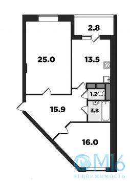 2-комнатная квартира напротив парка - Фото 2