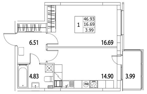 6 005 490 Руб., Продам 1к. квартиру. Приморский пр-кт, д.52 Т к.2-1, Купить квартиру в Санкт-Петербурге по недорогой цене, ID объекта - 317939777 - Фото 1