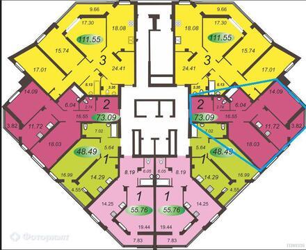 Квартира 2-комнатная в новостройке Энгельс, ул Берег Волги, Купить квартиру в Энгельсе по недорогой цене, ID объекта - 316228267 - Фото 1
