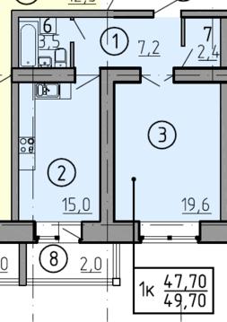 Однокомнатная квартира в строящемся доме - Фото 2