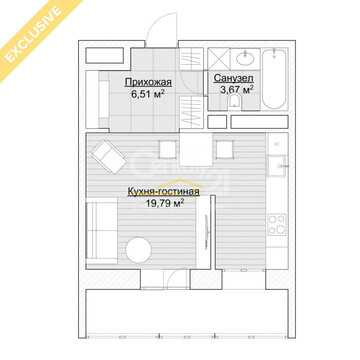 Продажа 1-комнатной квартиры ул. 6-я Радиальная, д.7, корп.35в, секция . - Фото 4