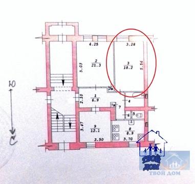 Продам 2 комнаты 30 м2/доля в 3-к. квартире, Новосибирск, Ползунова, 3 - Фото 5