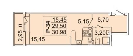 Продам студию. Кондратьевский пр-кт, д.58 к.1-1 - Фото 1