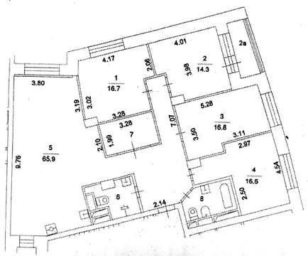 5 ком.кв.м.Крылатское, ул.Крылатские Холмы, д.37 - Фото 2