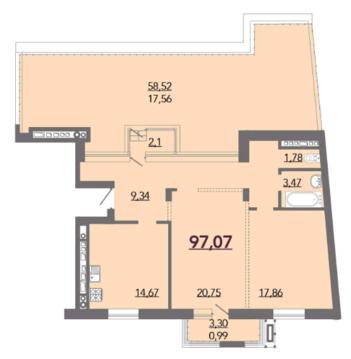 ЖК Kalinina House продается двухкомнатная квартира ул. Калинина 32 - Фото 4