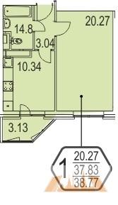 Продажа квартиры, Чечёрский проезд 126, ЖК Новое Бутово - Фото 1