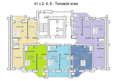 Объявление №50617563: Квартира 3 комн. Тамбов, ул. Магистральная, стр. 41, корп. 6,