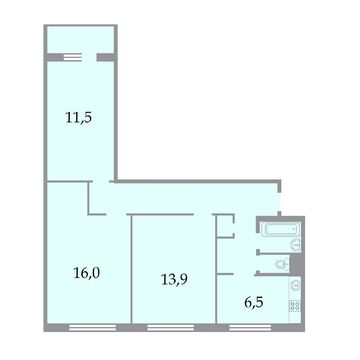 Продажа трехкомнатной квартиры в пешей доступности от метро - Фото 2