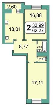 Продажа квартиры, Рязань, Кальное, Купить квартиру в Рязани по недорогой цене, ID объекта - 318400623 - Фото 1