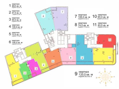 3-комн. квартира, 119.7 кв.м ул. Сакко и Ванцетти, 78а - Фото 2