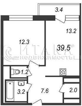 Объявление №47759311: Квартира 1 комн. Санкт-Петербург, ул. Коллонтай, д. 2,