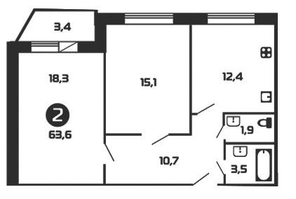 Продам 2к. квартиру. Колтушское ш. к.15, Купить квартиру Колтуши, Всеволожский район по недорогой цене, ID объекта - 318422701 - Фото 1