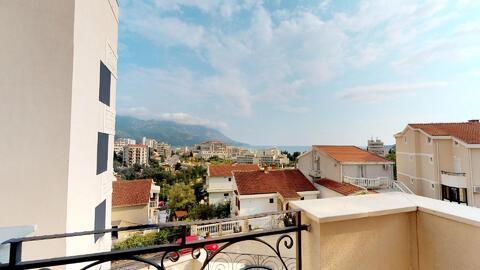 Квартира без мебели с видом на море в курорте г. Бечичи, Черногория - Фото 4