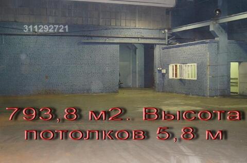 Отапливаемый склад 793,8 м2. Высота потолков 5,8 метров. - Фото 5
