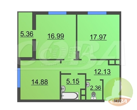 Продажа квартиры, Тюмень, Николая Зелинского - Фото 1